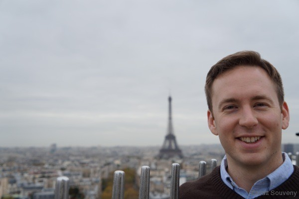 Matt with the Eiffel Tower